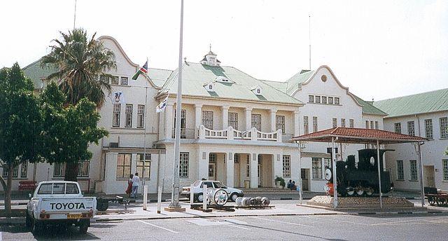 Namibie - Gare de Windhoek.