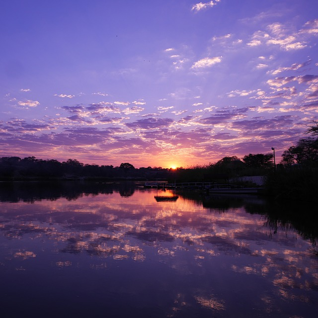 Namibie - coucher de soleil