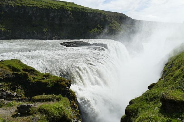 Islande chute d'eau Gullfoss